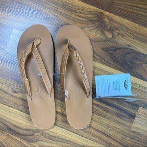 nwt rainbow tan sandals size 5.5
